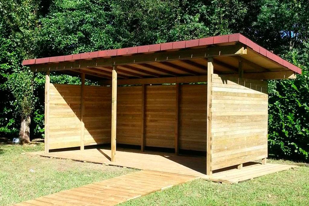 Instalaciones de madera mobiliario urbano montaje y - Proyectos de madera ...